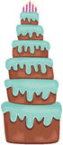 Big Birthday Cake. Scalable vectorial image representing a big Birthday cake, isolated on white Stock Photography