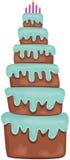 Big Birthday Cake Stock Photography