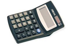Big Black Calculator Royalty Free Stock Image