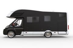 Big black camper vehicle - side view Royalty Free Stock Photo