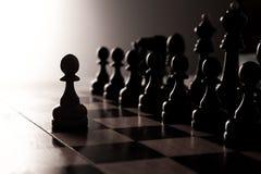 Big black chess pieces set Stock Photos