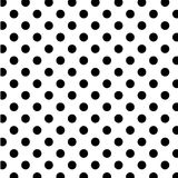 big black dots polka seamless white Arkivfoton
