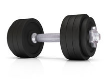 Big black dumbells over Stock Photography