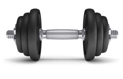 Big black dumbells Royalty Free Stock Photos