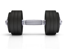 Big black dumbells Royalty Free Stock Image