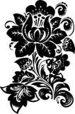 Big black flower on white Stock Photography