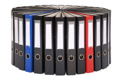 The big black folders located on a circle Royalty Free Stock Photos