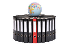 Big black folders located on a circle Royalty Free Stock Photo