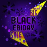 Black friday sale with date Stock Images