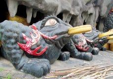 Big black frog model Suoi Tien Amusement Park Royalty Free Stock Image