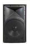 Big black isolated loudspeaker Royalty Free Stock Photo