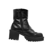 Big Black Leather Boot Royalty Free Stock Photo