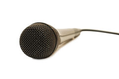 Big black microphone Royalty Free Stock Photo