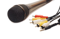 The big black microphone Stock Images
