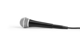 Big black microphone Stock Photos