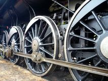 Big black old historical steam train Stock Image
