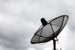 Big Black satellite Cloudy Sky Royalty Free Stock Photo