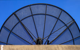 Big Black Satellite Dish Royalty Free Stock Photo