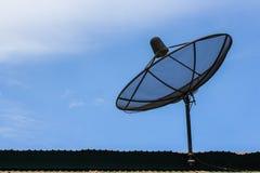 Big Black Satellite Dish Stock Photography