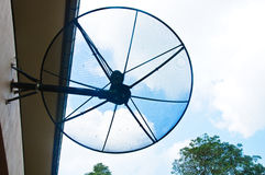 Big Black Satellite Dish Stock Photos