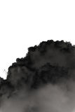 Big black smoke and cloud isolated on white Royalty Free Stock Images
