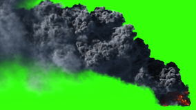 Big black smoke. Black smoke in HD, usable for compositing or effects stock video footage