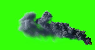 Big black smoke 4K Royalty Free Stock Photo