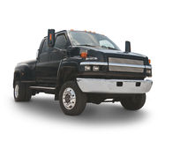 Big Black Truck Royalty Free Stock Photography
