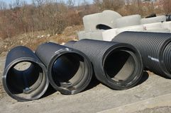 Big black tubes Stock Image