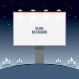 Big Blank Advertising Billboard Standing On A Hill Stock Images