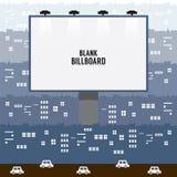 Big Blank Advertising Billboard In Town Stock Image