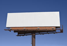 Big Blank Billboard. In bright desert sunlight royalty free stock image