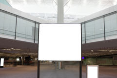 Big Blank Billboard in airport Royalty Free Stock Image