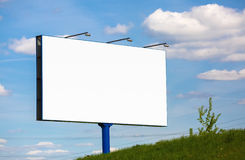 Big blank billboard. Blank billboard on blue sky background. Street poster. For design presentations and portfolios royalty free stock photography