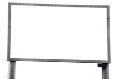 Big blank  billboards. A big modern blank  billboards on isolated Stock Image