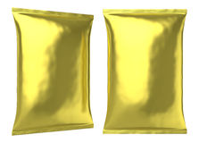 Big blank golden foil plastic bag Royalty Free Stock Photography