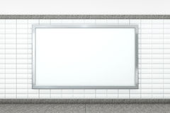 Big Blank Horizontal Poster. 3d rendering Stock Photo