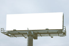 Big Blank white billboard Ready for product display montage advertisement. Royalty Free Stock Image
