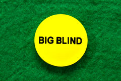 A big blind chip for poker Royalty Free Stock Photo