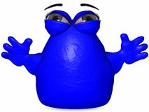 The Big Blob-Toon Figure Royalty Free Stock Photos