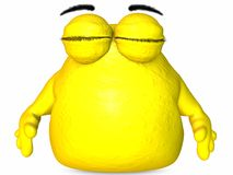 The Big Blob-Toon Figure Royalty Free Stock Image