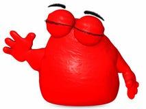 The Big Blob-Toon Figure Stock Image
