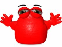 The Big Blob-Toon Figure Royalty Free Stock Photography