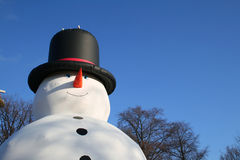 Big blowup snowman Royalty Free Stock Photo