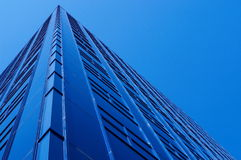 BIG blue. Building and a nice blue sky Royalty Free Stock Images