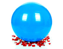 Big blue ball royalty free stock photography