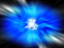 Big Blue Bang. A blue explosive background stock photography