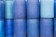 Big Blue Barrels Royalty Free Stock Photo