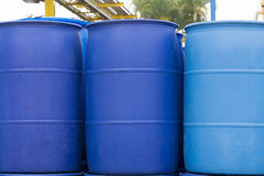 Big Blue Barrels Royalty Free Stock Photography