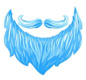 Santa Beard and Mustache Stock Images